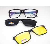 Óculos Masculino Ultem Com Clip Noturno E Solar Mc3227