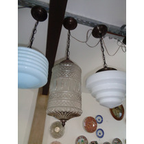 Luminária Globo De Vidro Com Desenho Na Cúpula