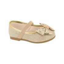 Sapatilha Infantil Molekinha - Dourado Glamour