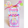 10 Caixa Milk Lembrança Personalizada Festa Circo Rosa