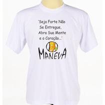 Camisa Camiseta Banda Maneva Regaae Frases Manga Curta