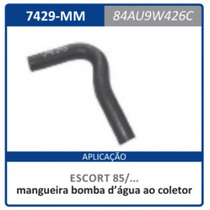 Mangueira Bomba D¿agua Coletor Fo 84au.9 Escort-apartir:1985