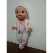 Roupinha Crochet Branca Boneca Baby Alive Ou Semelhantes