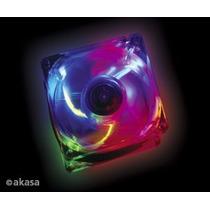 Cooler Fan Akasa Crystal C/ 4 Led´s - Colorido 12 Cm