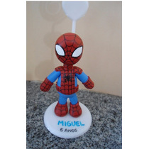 Lembrancinha Aniversário Em Biscuit Homem Aranha