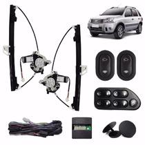 Kit Vidro Eletrico Fiesta Novo 4 P Traseiro Sensorizado