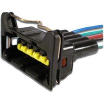 Chicote Conector 5 Vias Gol Med Fluxo Tipo 1.6 Inj Diver Atx