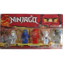 Kit Lego Ninjago Com 5 Bonecos E 5 Iténs Pronta Entrega