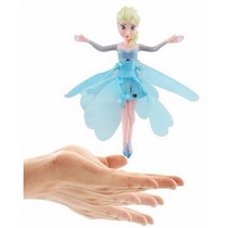 Boneca Voadora Com Sensor Fada Elsa Frozen