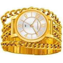 Relógiofeminino Lince Dourado (orient) Lrg4241l Prova Dágua