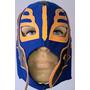 Máscara Rey Mistério - Para Adultos Azul Com Laranja