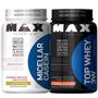 Combo Anabolismo - Micellar Casein + Top Whey 3w - Max Titan