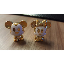Casal Dourado Disney Minnie E Mickey Gogos Novos