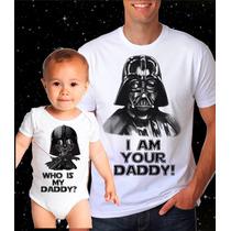 Kit Camiseta Pai E Body Filho Star Wars Darth Vader Geek