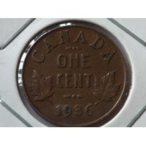 Raridade - Antiga Moeda Do Canadá One Cent De 1936 P/coleção