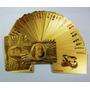Baralho Dourado Ouro 24k Folheado Poker Truco Dolar Jogos