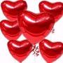 Balão Coração Vermelho 45cm Metalizados Kit C/ 40 Unid Vazio