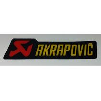 Adesivo Para Moto Resinado Alta Qualidade Modelo Akrapovic