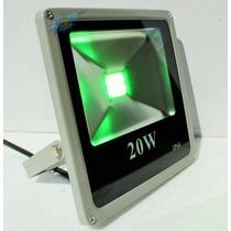 Kit 2 Refletor Led Slim Holofote Led 20w Verde Bivolt !!!