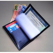 Porta Documentos Carro Couro Legitimo Largadão Com Plastico