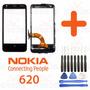 Tela Vidro Touch Frontal Nokia Lumia N620 620 + Aro + Chaves