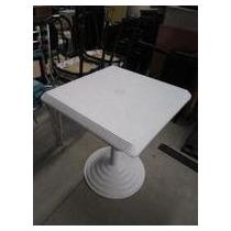 Mesa Plástica Quadrada Bistro 60x60x72 Desmontável Branca