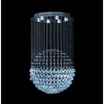 Lustre Plafon Cristal Iluminacao Escada Led Kit Esf-060 Dna