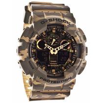 Relógio Casio G-shock Ga-100 Cm-5a Camuflado 5 Alarmes 200m
