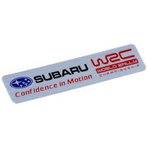 Emblema Adesivo Badge Em Aluminio - Subaru Sti Tecnica Wrc