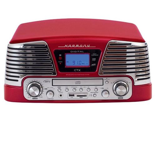 Toca Discos Vintage Anos 50 Ctx Harmony Fm Cd Player Usb Sd