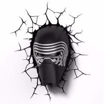 Star Wars Luminária Mascara Kylo Ren 3d Light Frete Gráti