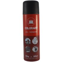 Tinta Alta Temperatura Spray Preto Fosco 600ºc - Colorart