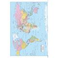 Mapa Do Mundo Poster - Cama Francesa Quarto Home Design Do P