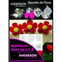 Kit Frisador Flores Eva Em Alumínio 16 Peças + Apostila B