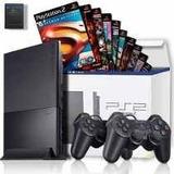 Play2 + Controle + Jogos/playstation 2 Desbloqueado