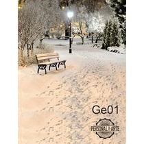 Fundo Fotográfico Tecido Tema Inverno ( 150 Cm X 200 Cm)