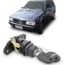 Botão Cilindro Tampa Traseira Uno 1996 A 2004 + Chave Fiat