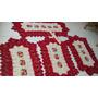Jogo De Tapetes Em Croche Flores E Bico 8 Fios