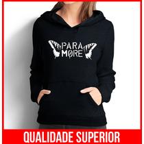 Moletom Paramore Feminino Casaco Canguru/blusa De Frio