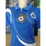 Baby Look Camisa Cruzeiro Feminina Passeio Pólo Com Ziper