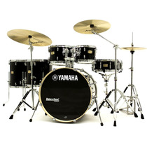 Bateria Yamaha Stage Custom Birch Raven Black Lacquer 22¨,10