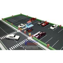 Kit Impresso Maquete De Papel P/ Montar Estacionamento 1/64