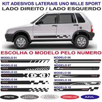 Adesivo Fiat Uno Mille Way Economy 2 Ou 4 Portas Kit Lateral