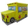 Puff Bau Infantil Para Guardar Brinquedos Amarelo