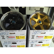 Roda Volk Racing K57 Te37 Aro 15 Tala 7,5 Siena Fit City