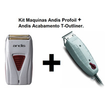 Kit Maquinas Andis Profoil Lithium + T-outliner Acabamento