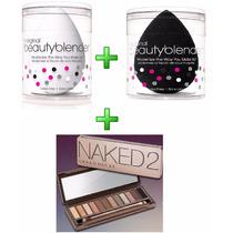 Naked 2 Urban Decay + 2 Esponja Beauty Blender Preta Branca