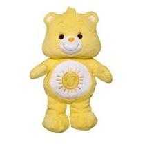Pelúcia Ursinhos Carinhosos Amarelo Animadinha 40cm Longjump
