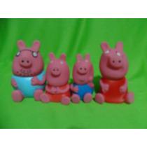 Kit Peppa Pig 4 Bonecos Para Crianças, Kit Completo