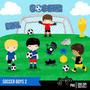 Pacote Com 6 Kits De Futebol Imagens Clipart Coleção